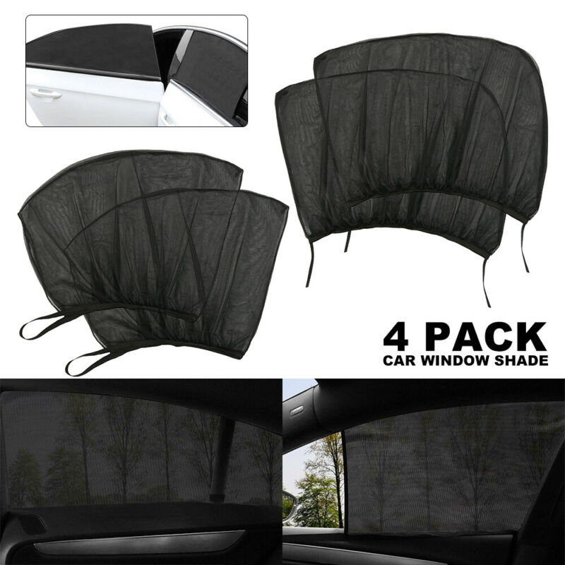 Car Parts - 4Pcs Auto Sun Shade Front Rear Window Screen Cover Sunshade Protector For Car