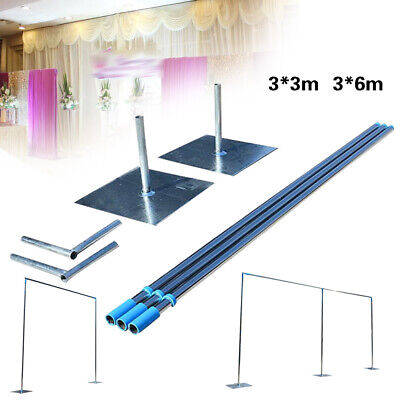 3x3m/3x6m Telescopic Pole Backdrop Support Stand Curtain Frame for Wedding