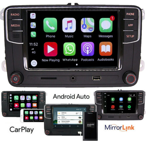 Autoradio RCD330,Bluetooth,Carplay,Android Auto,USB,RVC,VW GOLF POLO PASSAT EOS