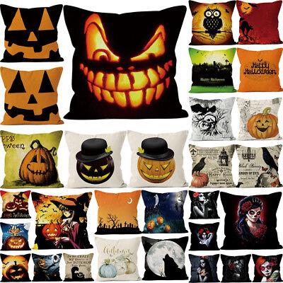 Halloween Pillowcase - Halloween Pillows Cover Fall Decor Pillow Case Sofa Waist Throw Cushion Cover