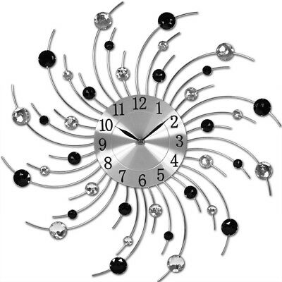 Wanduhr Moderne Küchen Küchenuhr Designer Quartz Uhr Bürouhr NEU silber schwarz