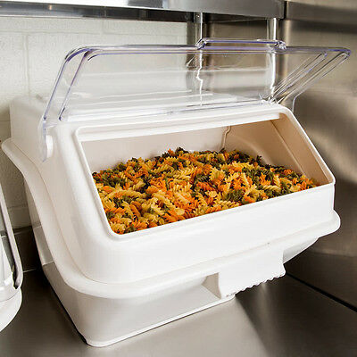 12.6 Gallon Shelf Ingredient Bin Commerical Restaurant Kitchen Clear Lid Bakers
