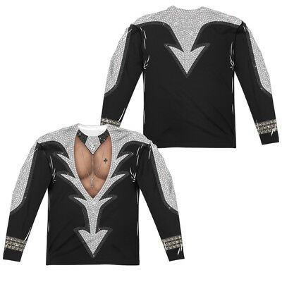 KISS CATMAN COSTUME Licensed Adult Men's Long Sleeve Graphic Tee Shirt SM-3XL