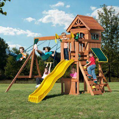 Swing-N-Slide WS 8328 Jamboree Fort Play Set with Two Swings