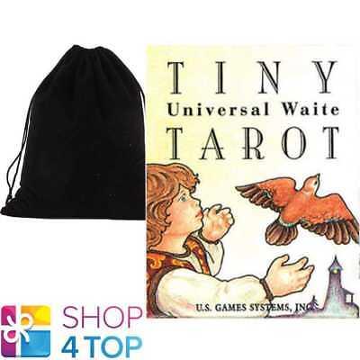 TINY UNIVERSAL WAITE TAROT DECK CARDS ESOTERIC MINI SMALL WITH VELVET BAG NEW
