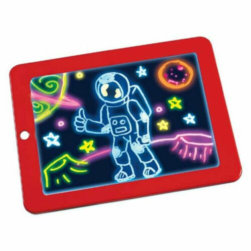 Kid 3D Magic Pad Drawing Board Glow Art Crafts Light Up LED Markers Erase Tablet