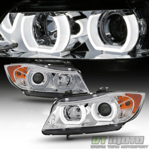 HID/Xenon Non-AFS 2006 2007 2008 BMW E90 3-Series Sedan LED 3D Halo Headlights