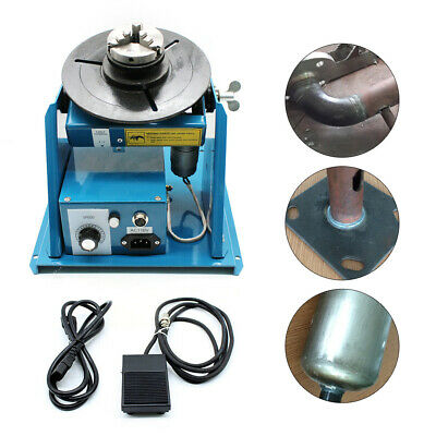 110v 2.5 3 Jaw Rotary Welding Positioner Turntable Table Lathe Chuck 2-10rmin