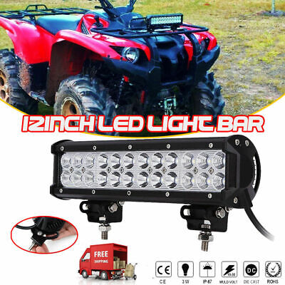 BRAND NEW 12inch 72W Combo LED Work Light Bar Driving Offroad SUV ATV Boat  -