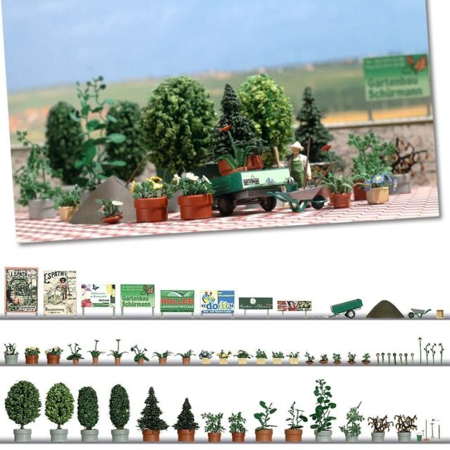 OO/HO Scene - Garden Design Set - Busch 1211 - free post