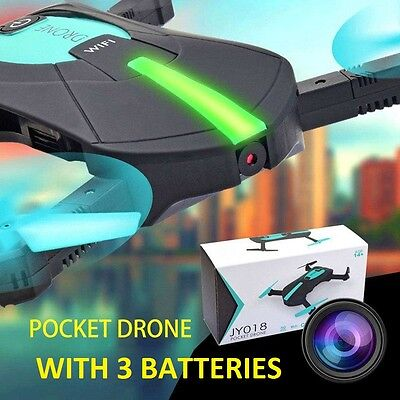 Cluster Drone WIFI FPV Smart Phone Camera Foldable Mini RC Android & Iphone