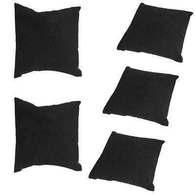 5 Pieces Bracelet Watch Display Pillow (Measures 4 Inch x 4 Inch) BLACK VELVET