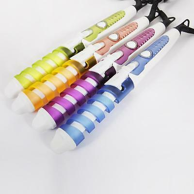New Hot Professional Hair Salon Spiral Ceramic Curling Curler Iron Color Random