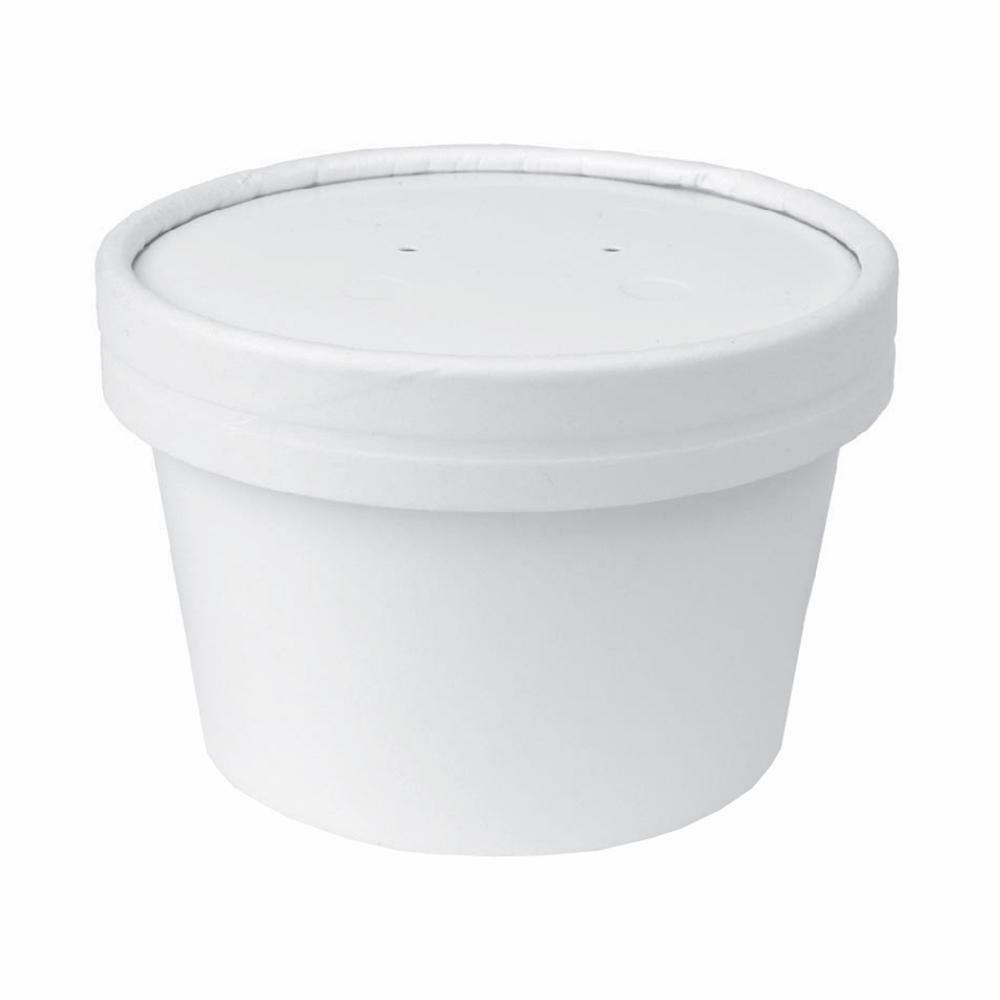 UNIQ® 8 oz To Go Containers and Lids With Vent Holes - Low