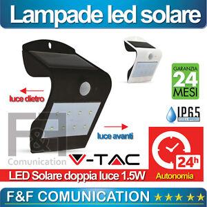 ... SOLARE CREPUSCOLARE SENSORE MOVIMENTO ESTERNO APPLIQUE LED VTAC  eBay