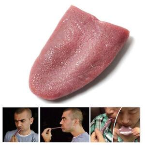 Cool Tongue Trick, Magic Horrible Tongue Fake Tounge Realistic Elasticity