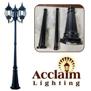NEW Acclaim 5179BK Chateau Collection 3-Head Surface Mount Outdoor Combination Post Light, Matte Black Condtion: New,...