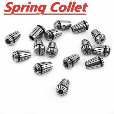 15pcs Er20 1-13mm Spring Collet Set Fr Spindle Cnc Milling Lathe Tool