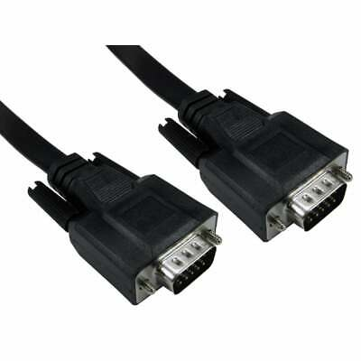 1m Flat Super VGA SVGA Fully Wired Monitor Cable Lead Male To...