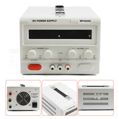 Mp3020d Led Variable Adjustable Lab Dc Bench Power Supply Regulated 0-30v 0-20a