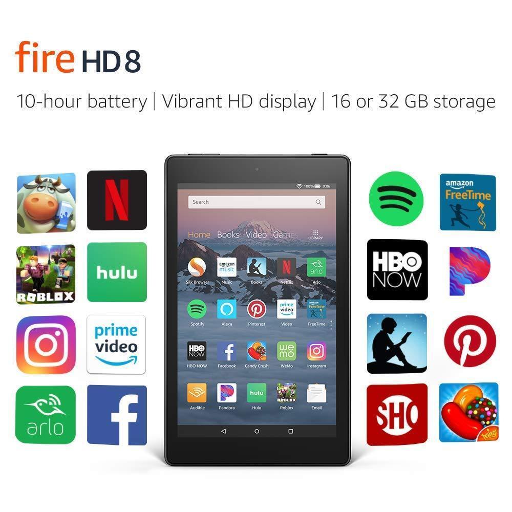 "New Amazon Kindle Fire HD 8 Tablet | 16 GB 8"" Display QuadCo"