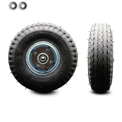 Scc - 10 X 3.5 Pneumatic Wheel Only With 4 Centered Hub And Ball Bearings