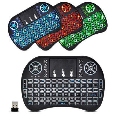 Mini 2.4G Wireless Backlit Keyboard With Touchpad For PC Android Smart TV PS4
