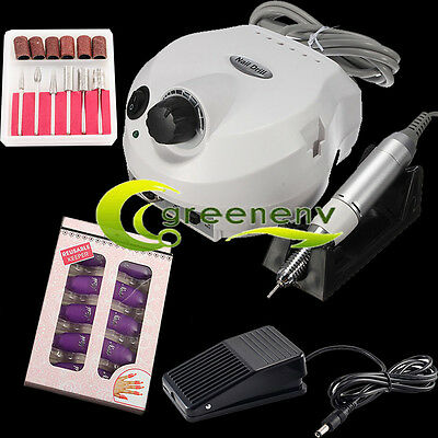 30000RPM Professional Manicure Electric Drill File Nail Art Pen Machine Kit WT