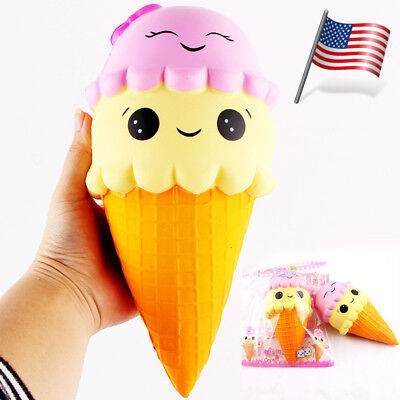 22Cm Exquisite Fun Ice Cream Scented Squishy Charm Slow Rising Simulation Toy
