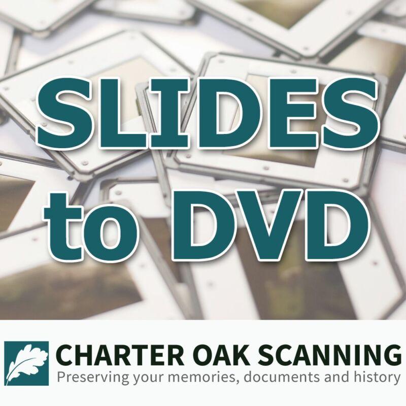 500 35mm Slides converted to DVD [Slide Scanning Service]