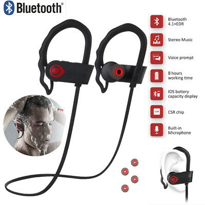 Wasserdicht Bluetooth Wireless Stereo Kopfhörer Sport Ohrhörer In Ear Headset