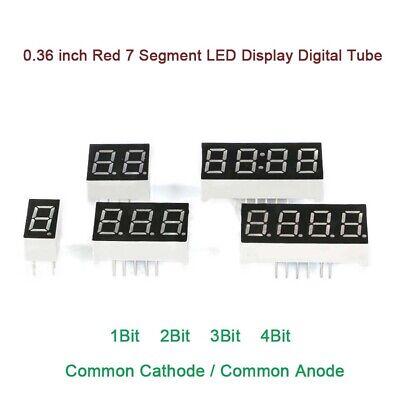 0.36 Inch Red 7 Segment Led Display Digital Tube Common Cathodeanode 1234bit