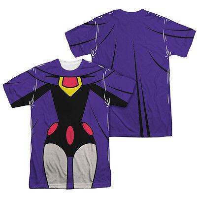 Teen Titans Go Raven Costume (TEEN TITANS GO RAVEN COSTUME Licensed Halloween Men's Graphic Tee Shirt)