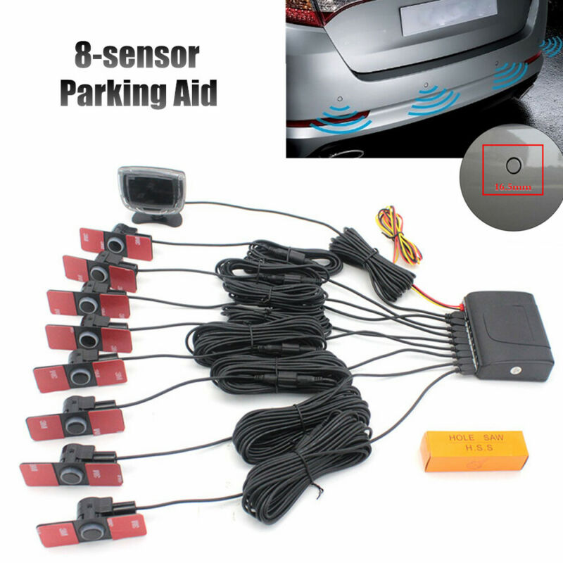 Car Parking Sensor Rear Parking Assist Car Reverse Backup Radar Kit Warning Kit
