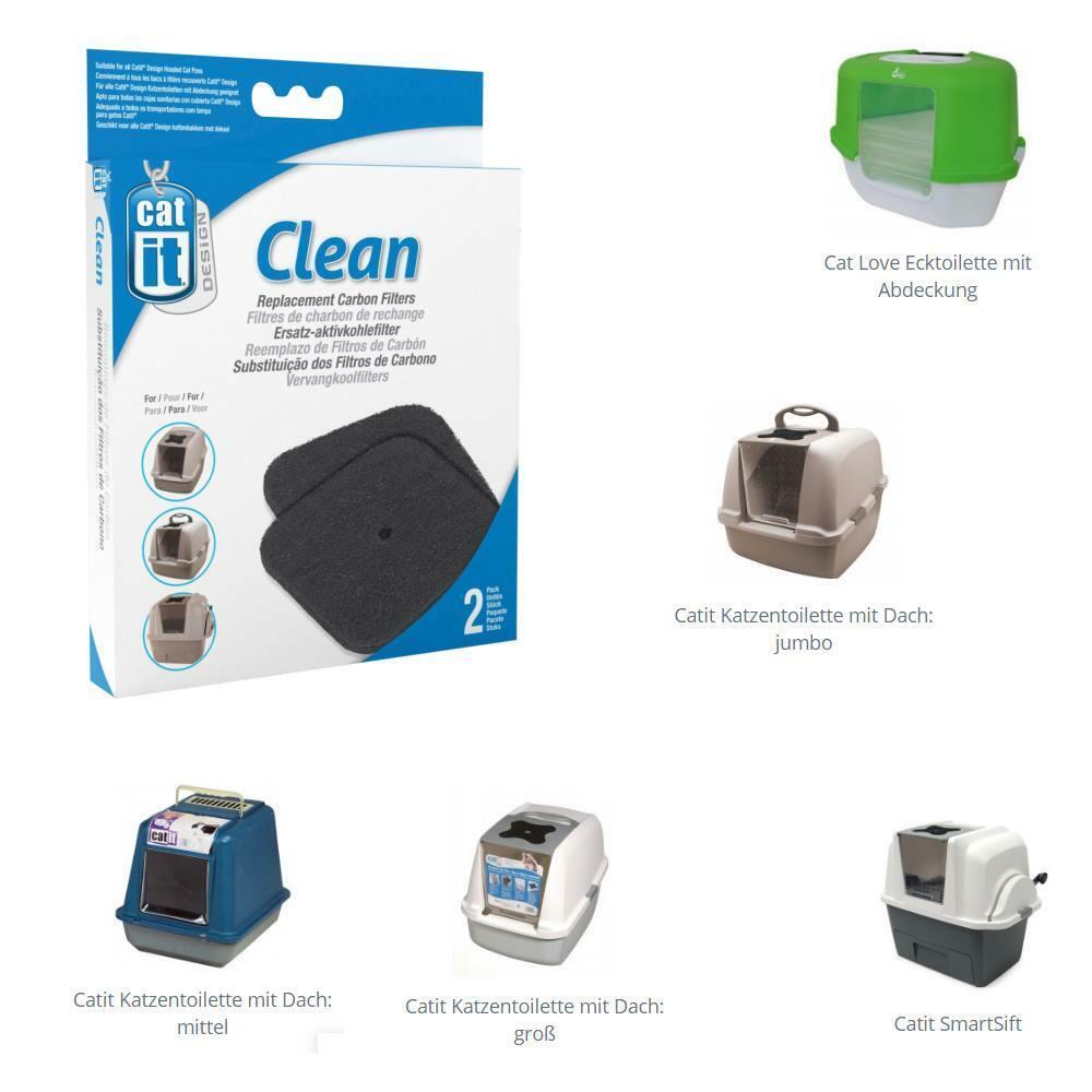Aktivkohlefilter Kohlefilter für div. Catit  Haubentoiletten Smart Sift  # 50705