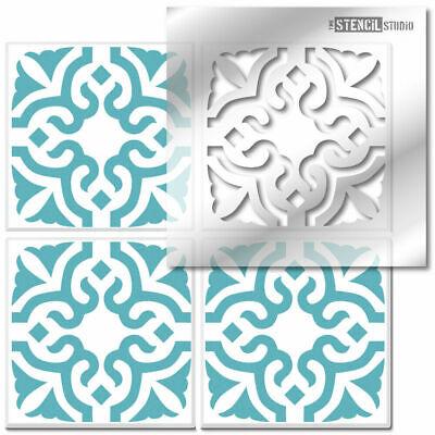 Bagpath Reusable Tile STENCIL. Paint Floors & Walls. Home Decorating DIT 10621