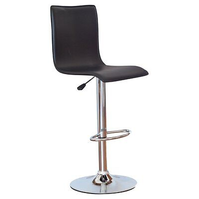 Winsome Adjustable Single Curve Back Air Lift Swivel Bar Stool, Chrome, 22.64-31