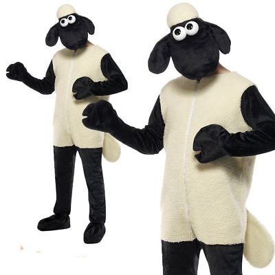 Adults Shaun the Sheep Costume Mens Wallace and Gromit Fancy Dress Easter Outfit](Wallace And Gromit Halloween)