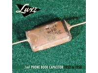 Luxe 1953-1956 Telecaster Wax Impregnated Paper /& Foil .1mF /& .05mF Capacitors
