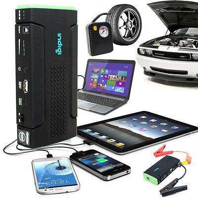 12800mAh Power Bank iPhone Tablet Laptop Camera Car Jump Starter Tire Compressor