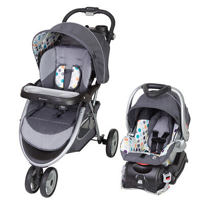 Baby Trend Skyview Plus Adjustable Baby Stroller and Car Seat Travel System, Ion