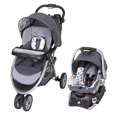Passeggino regolabile Baby Trend Skyview Plus e sistema di viaggio regolabile per seggiolino auto, Ion