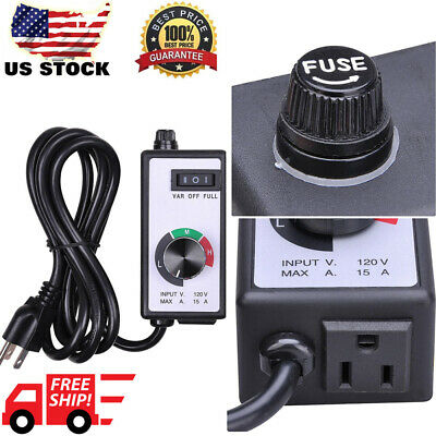 1800w Ac 120v For Router Fan Variable Speed Controller Electric Motor Rheostat