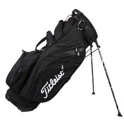Titleist 14 Way Top Divider 11 Pocket Golf Club Stand Bag w/ Dual Strap, Black