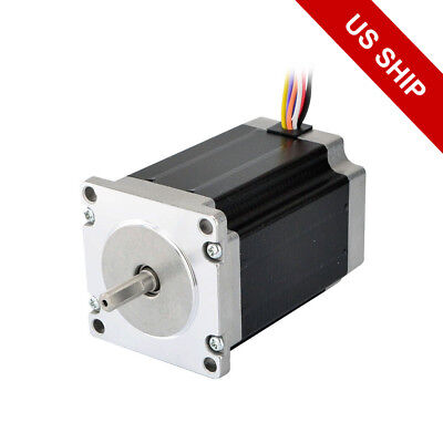 Dual Shaft Nema 23 Stepper Motor 2.83nm400 Oz.in 4a 8-wire Cnc Mill Lathe