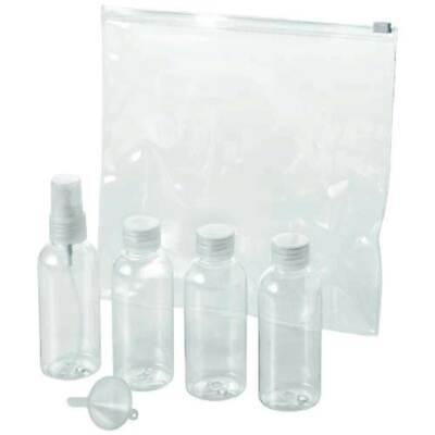 Für Flugreisen zugelassene 6tlg. Kosmetiktasche fürs Handgepäck am