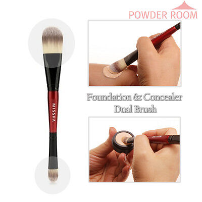 MISSHA Foundation & Concealer Dual Brush Face Cover Brushes Make up korea sponge