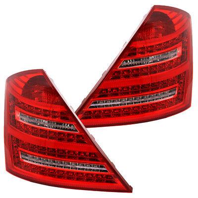 LED Rückleuchten Set für Mercedes S-Klasse W221 Bj. 2005-2009 Rot/Chrom
