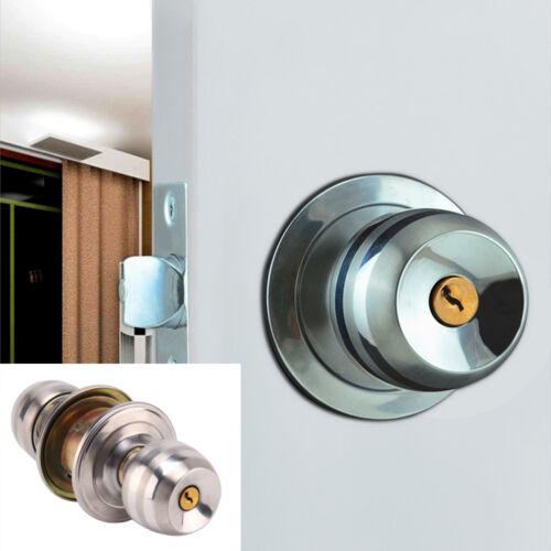 Uk Stainless Steel Round Knobs Handle Passage Entrance Lock Door