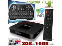 NEW 2018 TX3 mini NEW KODI 17.3 2GB+16GBHD Android 7.1.2 Quad Core Smart TV BOX KODI BOX & Keyboard